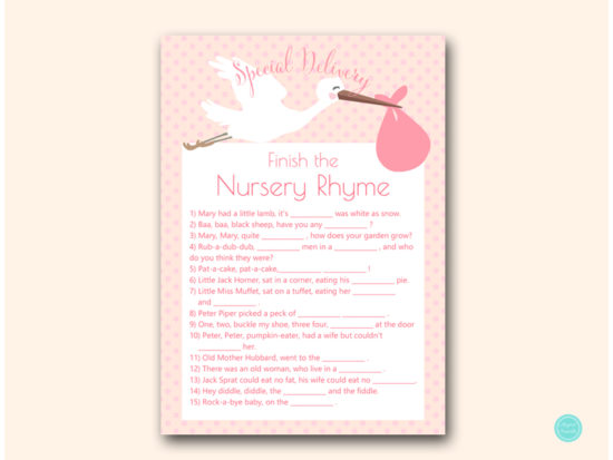 tlc458p-nursery-rhyme-finish-pink-girl-stork-baby-shower-game