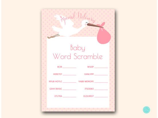 tlc458p-scramble-baby-words-pink-girl-stork-baby-shower-game