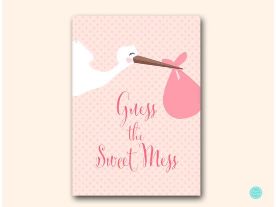 tlc458p-sweet-mess-pink-girl-stork-baby-shower-game-sign