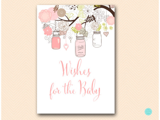 tlc459-wishes-for-baby-sign-girl-pink-mason-jars-baby-shower