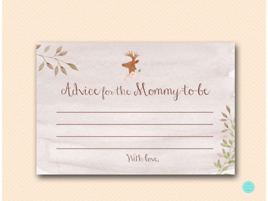 tlc461-advice-for-mommy-deer-antler-woodland-baby-shower