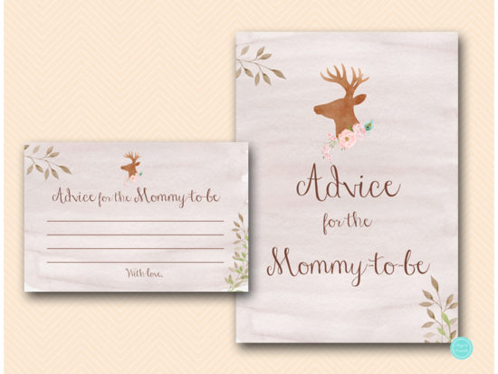 tlc461-advice-for-mommy-sign-deer-antler-woodland-baby-shower