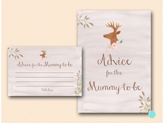 tlc461-advice-for-mummy-sign-deer-antler-woodland-baby-shower
