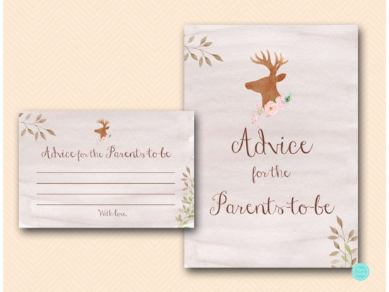 tlc461-advice-for-parents-sign-deer-antler-woodland-baby-shower