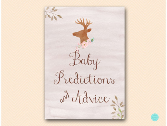 tlc461-baby-predictions-advice-sign-deer-antler-woodland-baby-shower