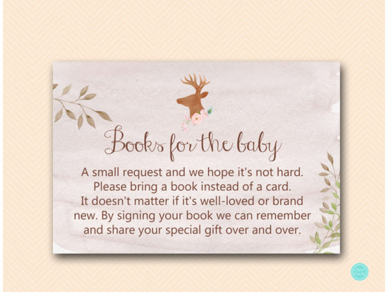 tlc461-books-for-baby-insert-deer-antler-woodland-baby-shower