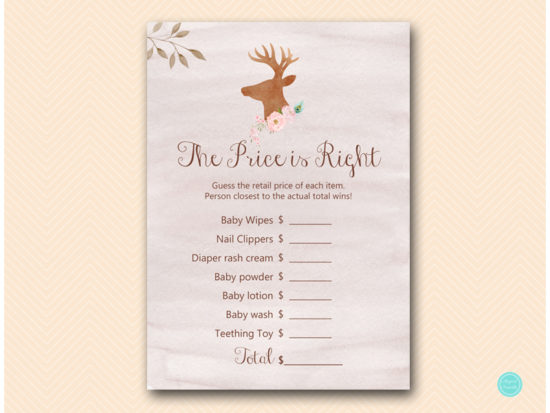 tlc461-price-is-right-deer-antler-woodland-baby-shower