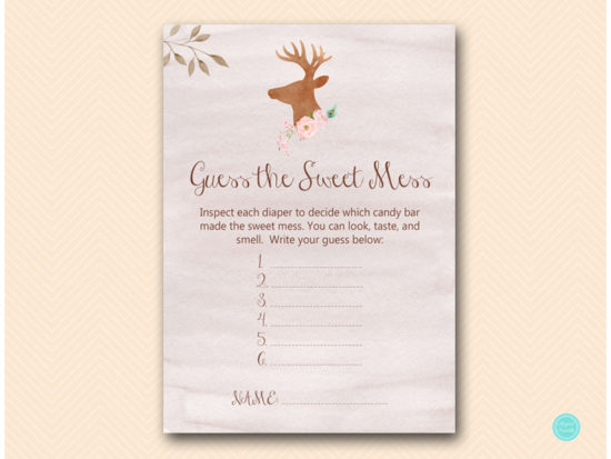 tlc461-sweet-mess-card-deer-antler-woodland-baby-shower