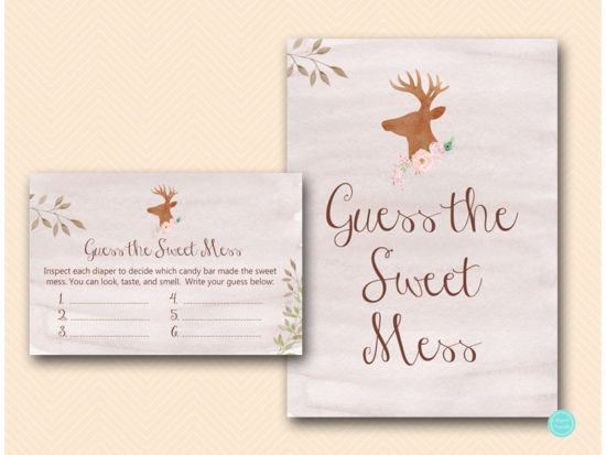 tlc461-sweet-mess-sign-deer-antler-woodland-baby-shower
