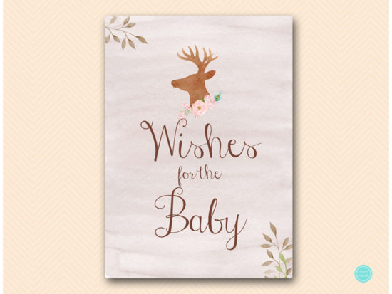 tlc461-wishes-for-baby-sign-deer-antler-woodland-baby-shower