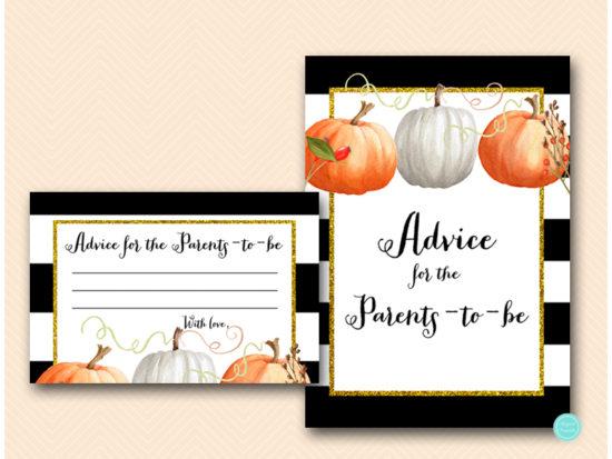 tlc463-advice-for-parents-sign-pumpkin-baby-shower-autumn-fall