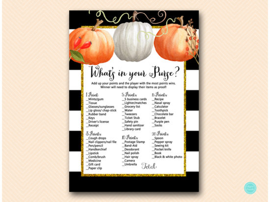 tlc463-whats-in-your-purse-pumpkin-baby-shower-autumn-fall