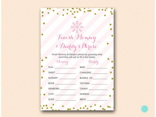 tlc464-finish-mommy-daddys-phrase-pink-gold-winter-baby-shower-game