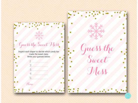 tlc464-sweet-mess-guess-sign-pink-gold-winter-baby-shower-game