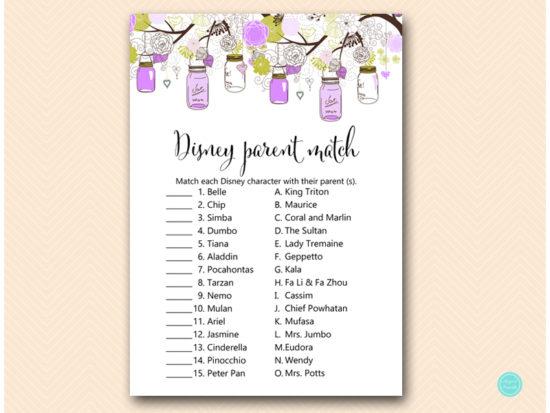 tlc475-disney-parent-match-purple-mason-jars-baby-shower-game