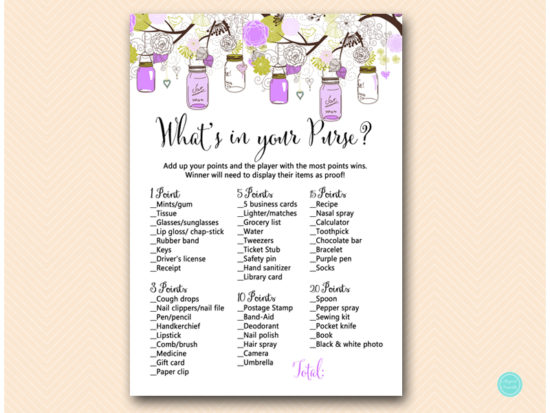 tlc475-whats-in-your-purse-purple-mason-jars-baby-shower-game