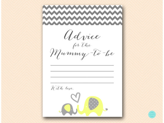 bs473-advice-for-mummy-card-yellow-elephant-baby-shower-game