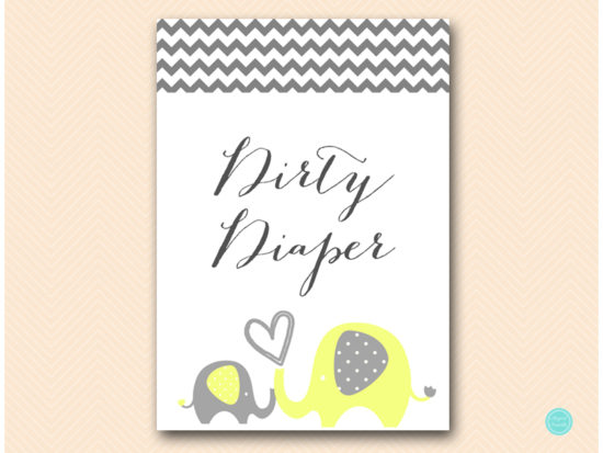 bs473-dirty-diaper-sign-yellow-elephant-baby-shower-game