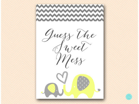 bs473-sweet-mess-sign-yellow-elephant-baby-shower-game