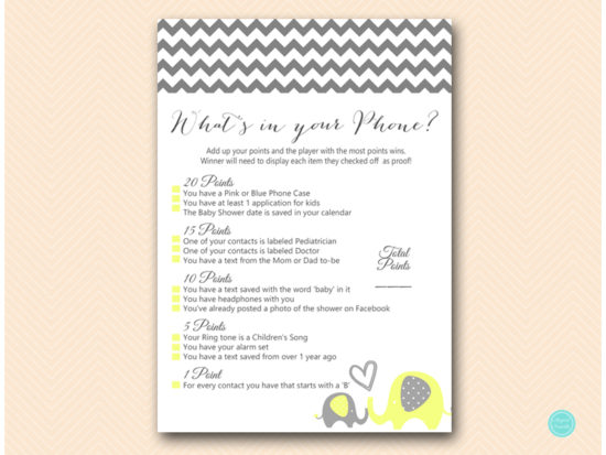 bs473-whats-in-your-phone-yellow-elephant-baby-shower-game