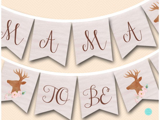 rustic-woodland-mama-to-be-baby-shower-banner