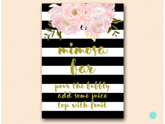 sn390-mimosa-bar-black-gold-floral-decoration-sign-printable