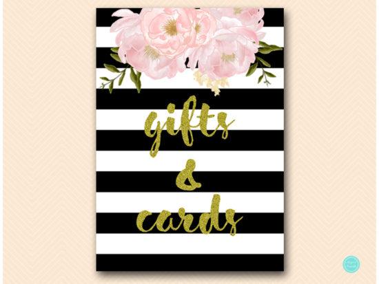 sn390-sign-gifts-cards-black-gold-floral-decoration-sign-printable