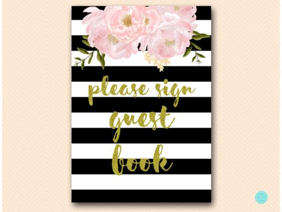 sn390-sign-guestbook-black-gold-floral-decoration-sign-printable