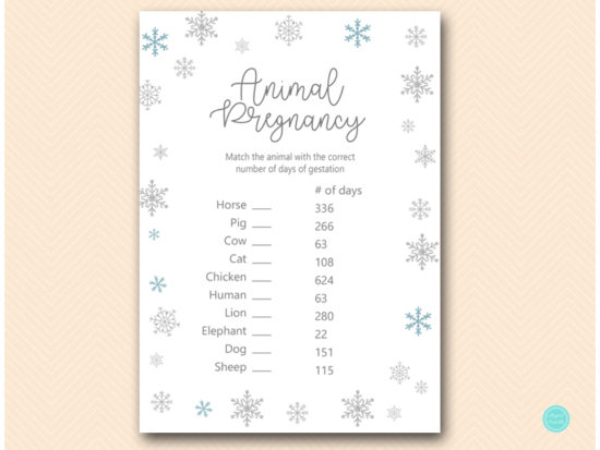 tlc491-animal-pregnancy-glitter-snowflake-winter-baby-shower-game