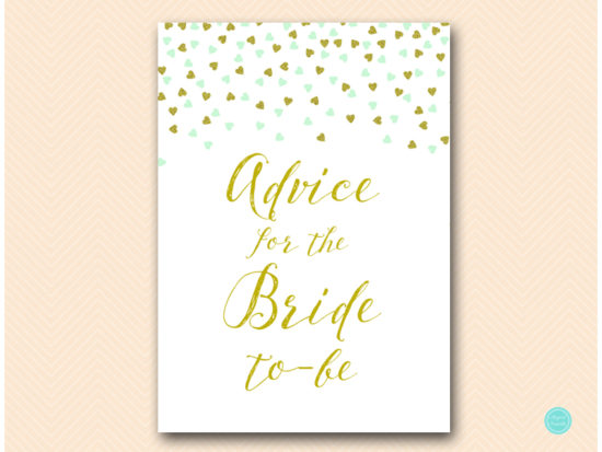 bs488m-advice-for-bride-sign-5x7-mint-gold-bridal-shower