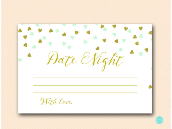 bs488m-date-night-idea-card-6x4-mint-gold-bridal-shower