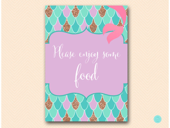 sn516-sign-enjoy-some-food-mermaid-party-themed-signs