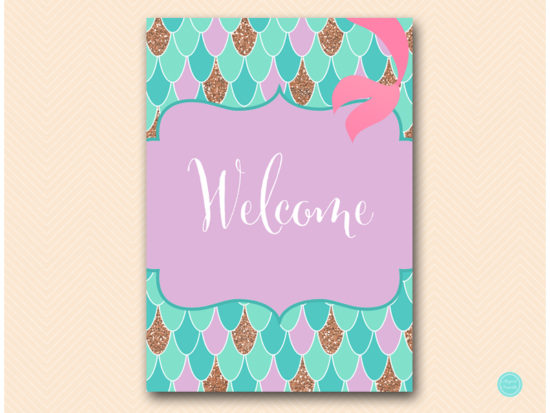 sn516-sign-welcome-mermaid-party-themed-signs