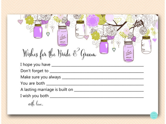 tlc475-wishes-for-bride-and-groom-6x4-purple-mason-jars-bridal-shower