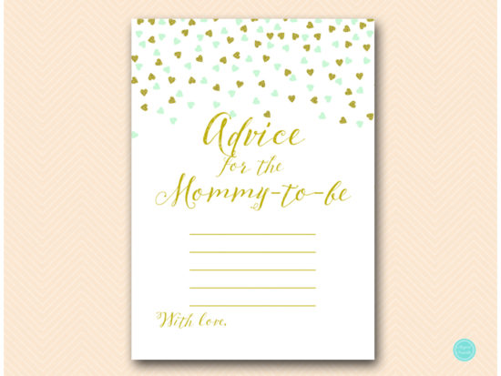 tlc488m-advice-for-mommy-blanklines-mint-gold-baby-shower-game