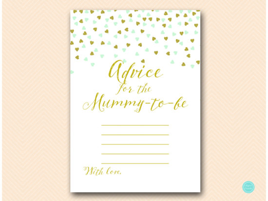 tlc488m-advice-for-mummy-blanklines-mint-gold-baby-shower-game