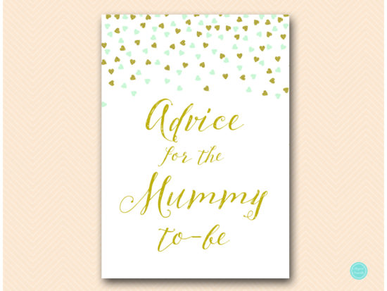 tlc488m-advice-for-mummy-mint-gold-baby-shower-game-5x7