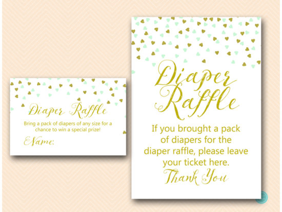 tlc488m-diaper-raffle-sign-mint-gold-baby-shower-game