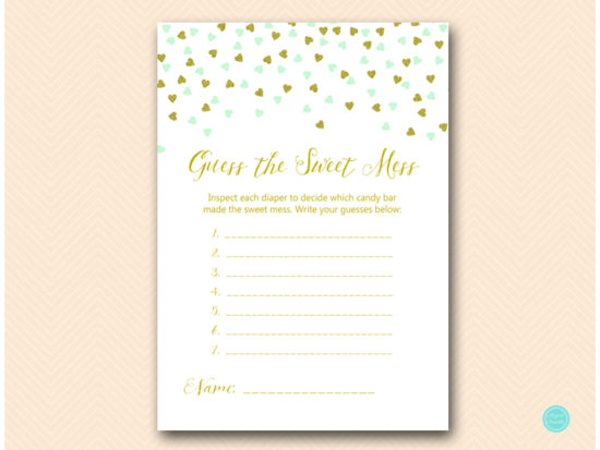 tlc488m-sweet-mess-card-7q-mint-gold-baby-shower-game