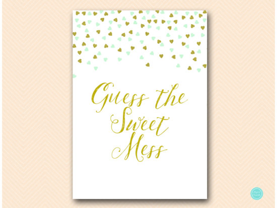 tlc488m-sweet-mess-sign-mint-gold-baby-shower-game