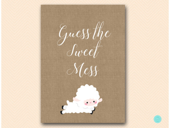 tlc504-sweet-mess-guessing-sign-little-lamb-baby-shower