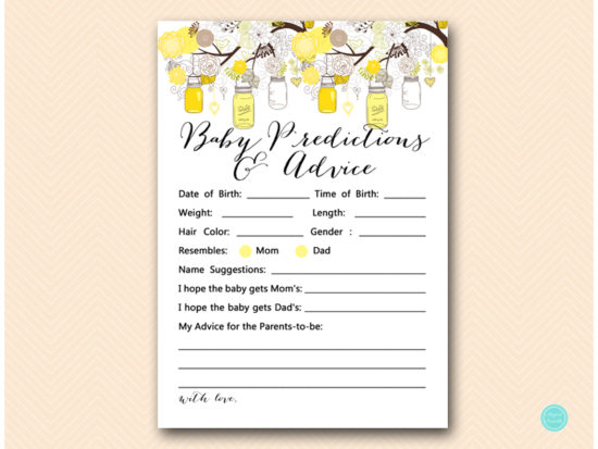 tlc507-baby-predictions-and-advice-yellow-marson-jars-baby-shower