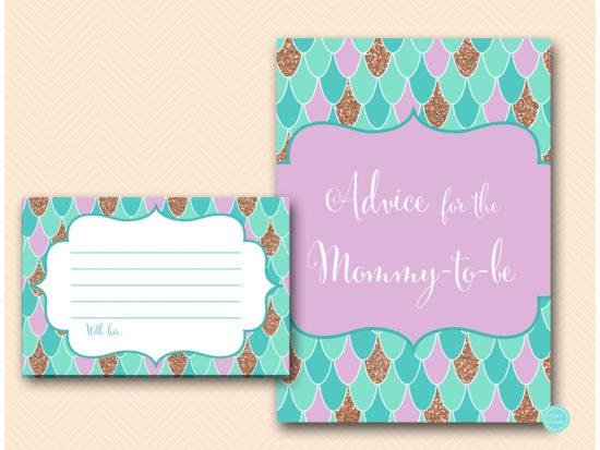 tlc516-advice-for-card-6x4-mermaid-bridal-shower-sea