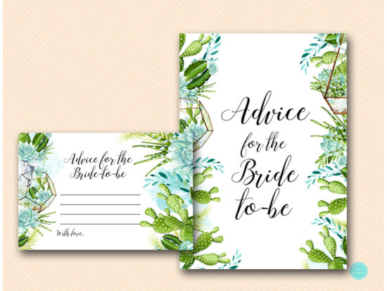 bs519-advice-for-bride-to-be-card-succulent-bridal-shower-game