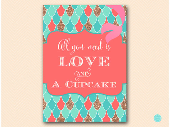sn516c-all-you-need-is-love-cupcake-coral-mermaid-decoration-signs