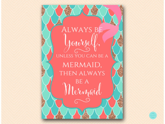 sn516c-always-be-yourself-to-be-mermaid-coral-mermaid-decoration-signs