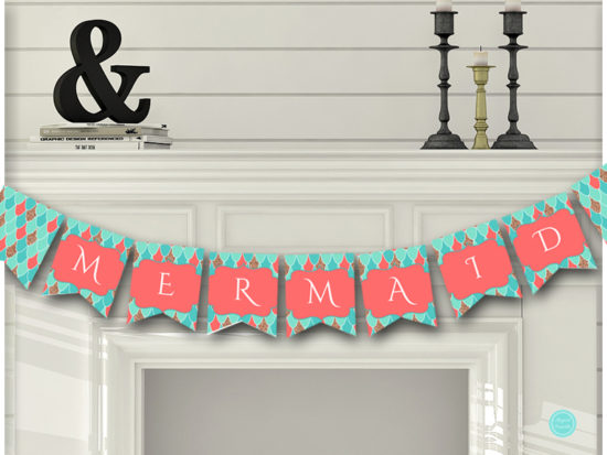 sn516c-banner-coral-mermaid-baby-shower-birthday-party-banner