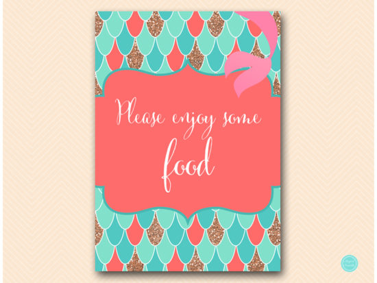 sn516c-food-enjoy-some-coral-mermaid-decoration-signs