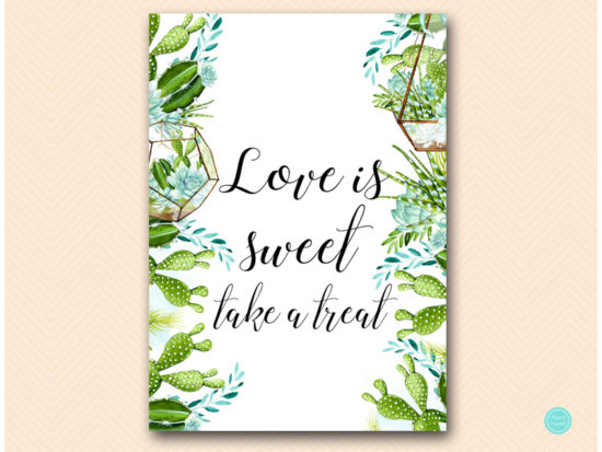 sn519-love-is-sweet-take-treat-sign-succulent-bridal-shower-sign-baby-shower
