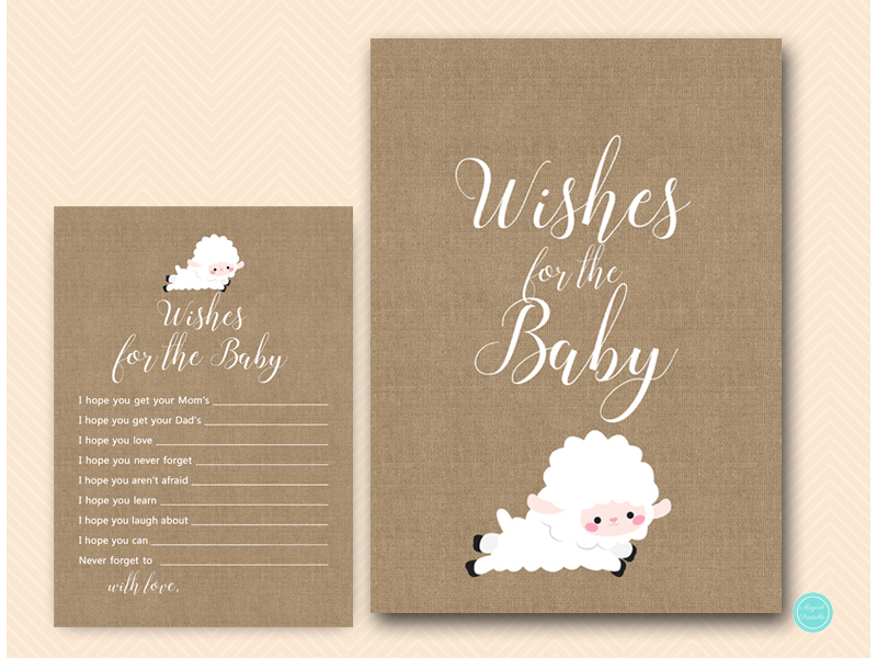 Little lamb wishes for baby cards
